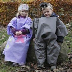 Kostyme til utebruk, laget av imitert stoff