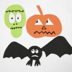 Magnetiske motiver av mosgummi - til Halloween