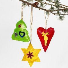 Malte juleoppheng med glitter og paljetter
