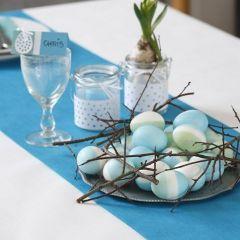 Ekte egg farget med silkemaling