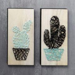 String Art kaktus på ikonplate