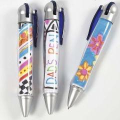Kulepenn med tegning inni