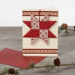 Julekort med flettet stjerne