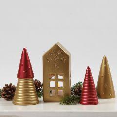 Julepynt av terrakotta malt med Art Metall maling