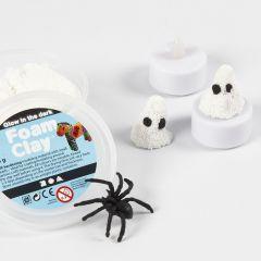 Lysende spøkelse av Foam Clay på LED te-lys