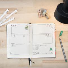 Bullet journal brukt som kalender