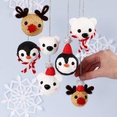 Polardyr som julekule av Foam Clay og Silk Clay