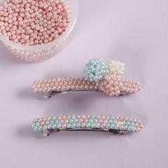 Hårspenne dekorert med Pearl Clay