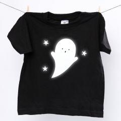 T-skjorte med refleks-spøkelse