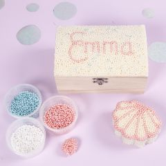 Smykkeskrin dekoreet med Pearl Clay