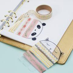 Masking-tape holder av hardfolie til bullet journal