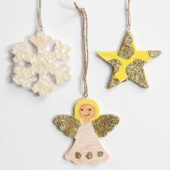 Juleoppheng med glitter