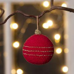 Heklet julekule av bomullsgarn