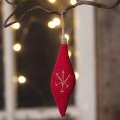Heklet ornament av bomullsgarn