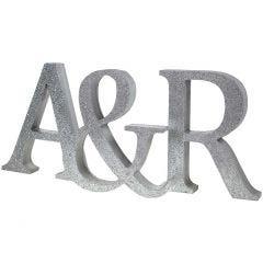 Malte initialer med glitter