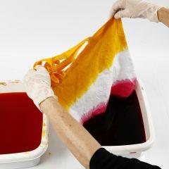 Slik lager man batikkteknikk dip dye