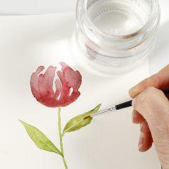 Slik maler du akvarell med løfteteknikk