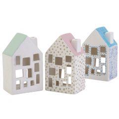 Koselige lyshus med glitterdetaljer