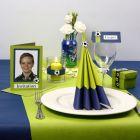 Inspirasjon til fest i lime og blå