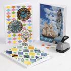 Bok med collage av rivepapir og ukeblad