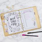Ønskeliste tegnet i Bullet journal