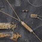 Rocaiperle rør som enheng til halskjede
