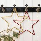 Heklet julestjerne på metalloppheng