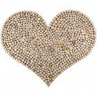 Stort hjerte med tett mønster av treskiver