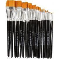 Gold Line Pensel, flat, nr. 0+2+4+8+12+16+20, B: 2-24 mm, 30 stk./ 1 pk.