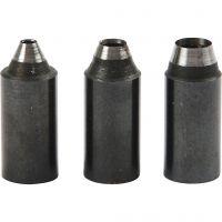 Knivblad, hullstr. 2+3+4 mm, 3 stk./ 1 pk.