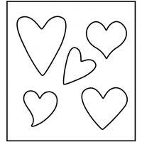 Skjæresjablong, hjerte, str. 14x15,25 cm, tykkelse 15 mm, 1 stk.