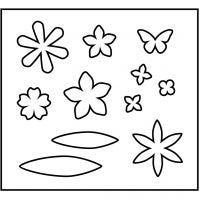 Skjæresjablong, blomster, str. 14x15,25 cm, tykkelse 15 mm, 1 stk.