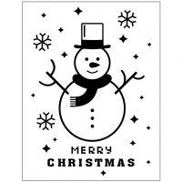 Pregesjablong, snømann, dia. 11x14 cm, tykkelse 2 mm, 1 stk.