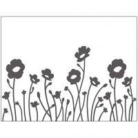 Pregesjablong, blomster, str. 11x14 cm, tykkelse 2 mm, 1 stk.