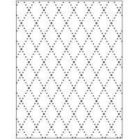 Pregesjablong, rhombus, str. 11x14 cm, tykkelse 2 mm, 1 stk.