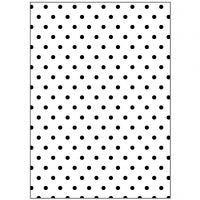 Pregesjablong, polka dotter, str. 13x18,5 cm, tykkelse 2 mm, 1 stk.