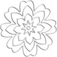 Skjæresjablong, blomst, dia. 0,5-8 cm, 1 stk.