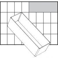 Basisinnsats, nr. A8-2, H: 47 mm, str. 157x55 mm, 1 stk.