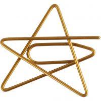 Klips, stjerne, str. 30x30 mm, gull, 6 stk./ 1 pk.