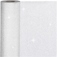Gavepapir, B: 50 cm, 80 g, sølv, 100 m/ 1 rl.