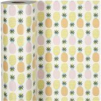 Gavepapir, ananas, B: 50 cm, 80 g, 150 m/ 1 rl.