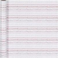 Gavepapir, doodles, B: 70 cm, 80 g, rød, hvit, 4 m/ 1 rl.