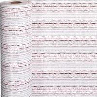 Gavepapir, doodles, B: 57 cm, 80 g, rød, hvit, 150 m/ 1 rl.