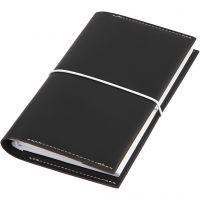 Kalender, str. 10x18x1,5 cm, elastisk lukking, svart, 1 stk.