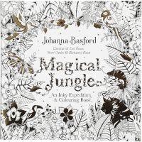 Antistress malebok, Magical Jungle, str. 25x25 cm, 80 , 1 stk.