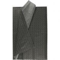 Silkepapir, 50x70 cm, 17 g, svart, 6 ark/ 1 pk.