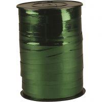 Gavebånd, B: 10 mm, blank, metallgrønn, 250 m/ 1 rl.
