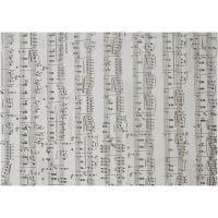 Pergamentpapir, noter, A4, 210x297 mm, 115 g, 10 ark/ 1 pk.