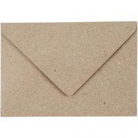 Kvistkonvolutt, konvolutt str. 7,8x11,5 cm, 120 g, beige, 50 stk./ 1 pk.