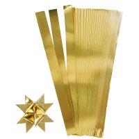 Stjernestrimler, L: 45 cm, B: 10 mm, dia. 4,5 cm, gull, 100 strimler/ 1 pk.